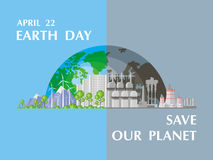 Save our planet poster Royalty Free Stock Photography