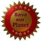 Save our Planet (seal) Stock Image