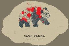 Save panda. Save wildlife. Stock Images