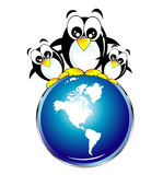 Save the penguins Royalty Free Stock Photography
