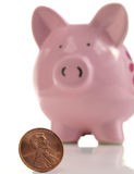 Save a penny royalty free stock image