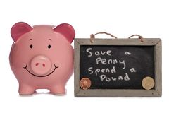 Save a penny spend a pound Royalty Free Stock Image