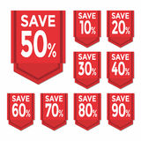 Save percent sticker price tag Royalty Free Stock Photography