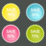 Save Percent  Vector Button Stock Image