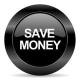 Save pieniądze ikonę Zdjęcie Royalty Free