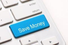 Save pieniądze guzika klucz Obrazy Stock