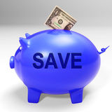 Save Piggy Bank Means Clearance Goods And Specials Stock Photo
