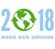 Save planetę 2018 Obraz Royalty Free