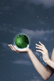 Save the planet. Abstract natural backgrounds Stock Photography