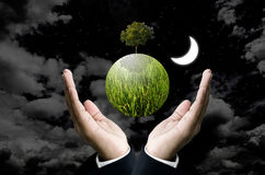 Save the planet concept Stock Image