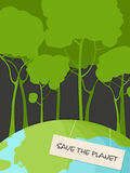 Save the Planet. Conceptual  illustration Royalty Free Stock Images