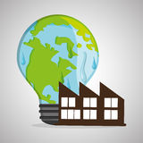 Save planet design. ecology icon. Think green concept, vector illustration Royalty Free Stock Photos