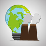 Save planet design. ecology icon. Think green concept, vector illustration Royalty Free Stock Images