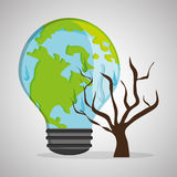 Save planet design. ecology icon. Think green concept, vector illustration Stock Photography