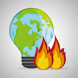 Save planet design. ecology icon. Think green concept, vector illustration Stock Photos