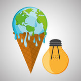 Save planet design. ecology icon. Think green concept, vector illustration Stock Photo