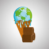 Save planet design. ecology icon. Think green concept, vector illustration Stock Images