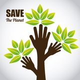 Save the planet vector illustration