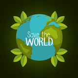 Save the planet design Stock Images