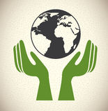 Save the planet. Design over pattern background vector illustration Royalty Free Stock Photography
