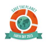 Save the planet earth day Royalty Free Stock Photography