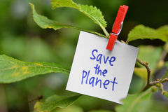 Save the planet. Ecology concept Royalty Free Stock Photography