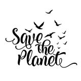 Save the planet - funny vector text quotes vector illustration