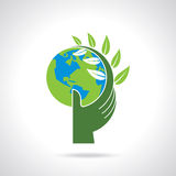 Save the planet  with plants and trees Stock Photos