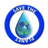 Save the planet seal Royalty Free Stock Photos