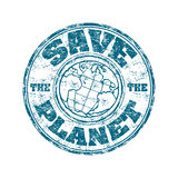 Save the planet stamp Stock Photography