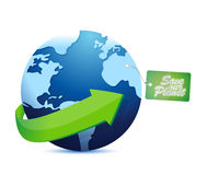 Save the planet tag Royalty Free Stock Photos
