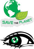 Save the planet. Two icons for design Stock Photo