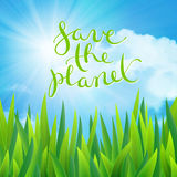 Save the planet, vector illustration Royalty Free Stock Image