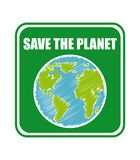 Save the planet Stock Image