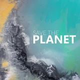 Save The Planet. View from above. Surrealistic lake. Stock Images