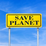 Save planet Royalty Free Stock Photography