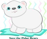Save the Polar Bears Stock Photography