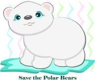 Save the Polar Bears Stock Photography
