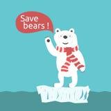 Save polar bears illustration Royalty Free Stock Photo
