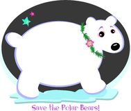 Save the Precious Polar Bears Stock Image