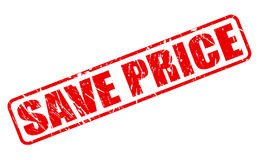 Save price red stamp text Royalty Free Stock Images