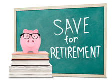 Save for retirement Royalty Free Stock Images