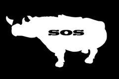 Save rhinoceros Royalty Free Stock Photos
