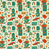 Save robots pattern Stock Images
