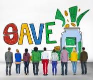 Save Saving Investment Finance Money Concept.  Stock Photos