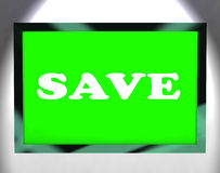 Save Screen Shows Promotion Sale Discount Royalty Free Stock Images