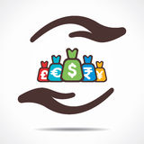 Save or secure money concept icon. Stock Stock Photos