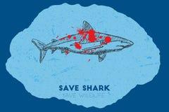 Save shark. Save wildlife. Stock Image