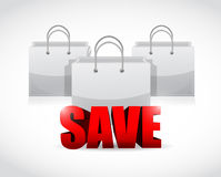 Save shopping concept illustration Stock Photo