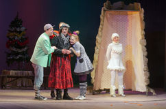 Save Snow White. DNIPRO, UKRAINE - DECEMBER 29, 2016: Save Snow White performed by members of the Dnipro State Drama Theatre royalty free stock photos